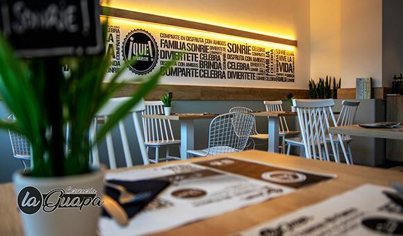 el interior de un restaurantes de alcobendas donde se realizan eventos familiares y profesionales